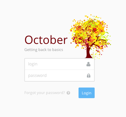 Original October login